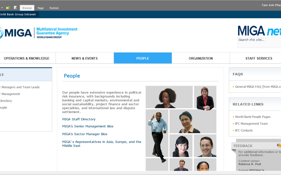 MIGAnet SharePoint 2010 Redesign